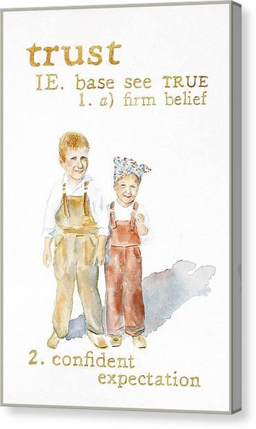 Trust Canvas Print by Janice Crow