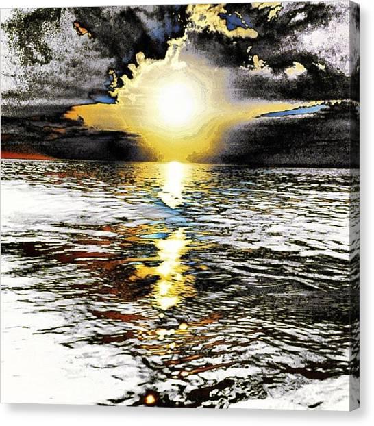 Sunset Horizon Canvas Print - Truth by Nick Heap