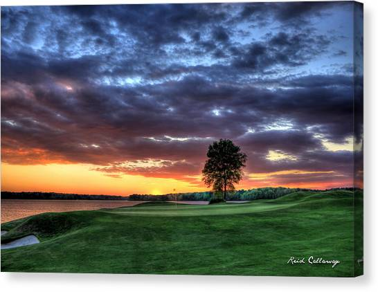 Jack Nicklaus Canvas Print - Try Me The Landing by Reid Callaway