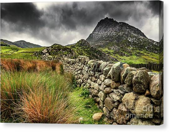 Ogwen Valley Canvas Print - Tryfan Mountain East Face by Adrian Evans