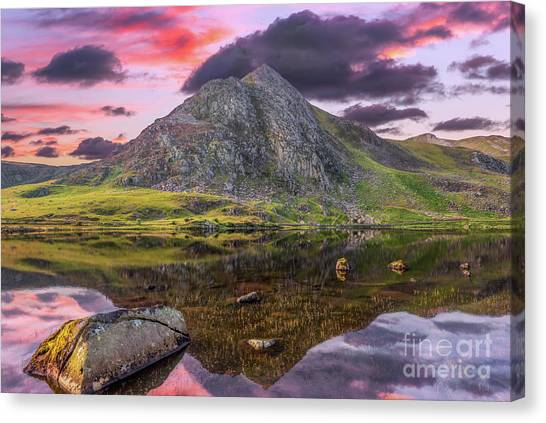 Tryfan Canvas Print - Tryfan Mountain Sunset by Adrian Evans