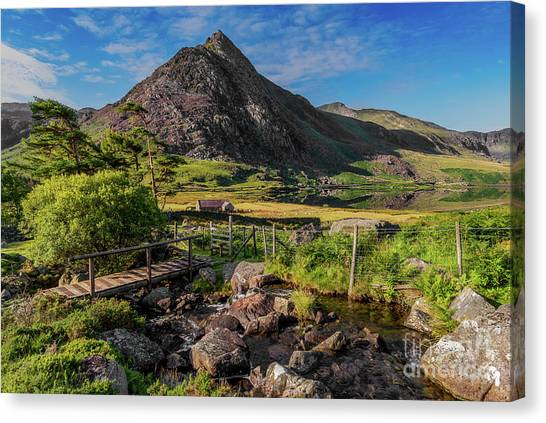 Tryfan Mountain Canvas Print - Tryfan Mountain Valley by Adrian Evans