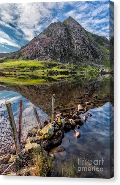 Tryfan Mountain Canvas Print - Tryfan Reflections by Adrian Evans