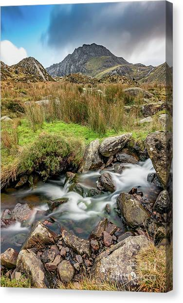 Tryfan Mountain Canvas Print - Tryfan Snowdonia National Park by Adrian Evans