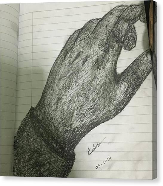 Superhero Canvas Print - Trying Pen by Adamantine Wolverine