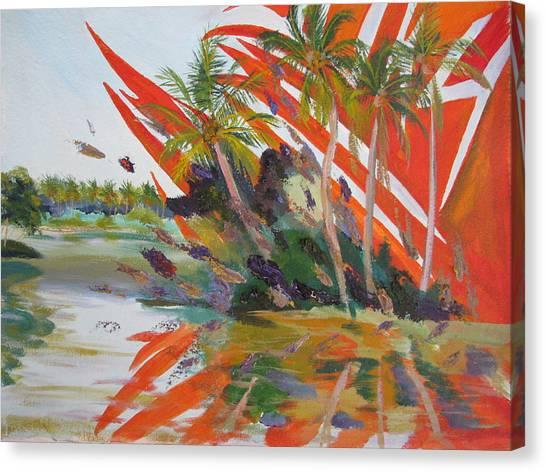 Tsunami Canvas Print by Art Nomad Sandra  Hansen