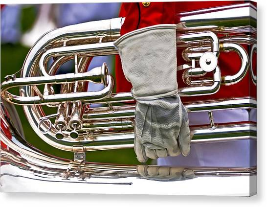 Tuba Player. Usmc Band Canvas Print