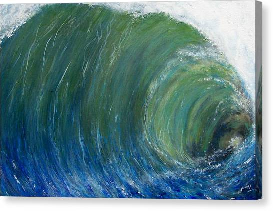 Tube Of Water Canvas Print by Tony Rodriguez