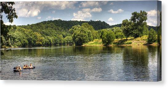 Tubing On The James River Canvas Print