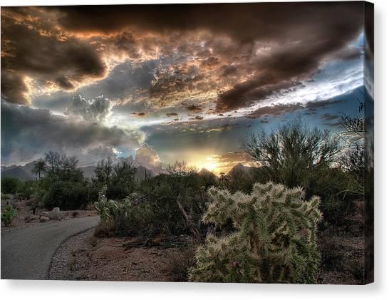 Tucson Mountain Sunset Canvas Print