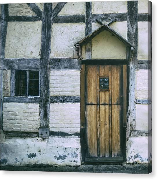 Old Houses Canvas Print - Tudor House by Joana Kruse