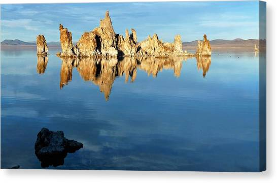 Tufa Reflection At Mono Lake Canvas Print