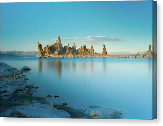 Tufas In The Fall Canvas Print