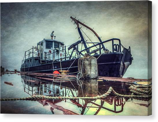 Tugboat Canvas Print - Tug In The Fog by Everet Regal