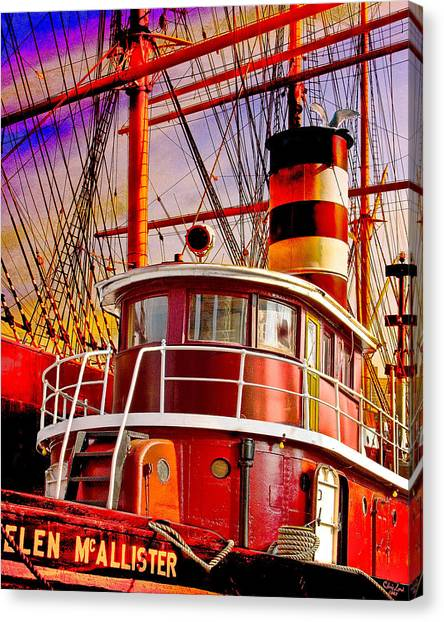 Tall Canvas Print - Tugboat Helen Mcallister by Chris Lord