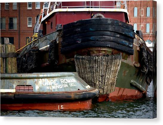 Fells Point Baltimore Canvas Print - Tugs Fells Point Baltimore Maryland by Wayne Higgs