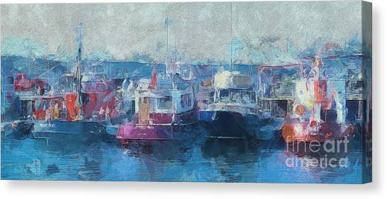 Tugs Together  Canvas Print