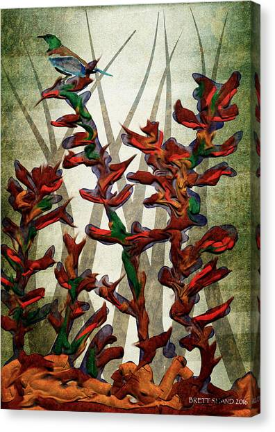 Tui In Flax Canvas Print