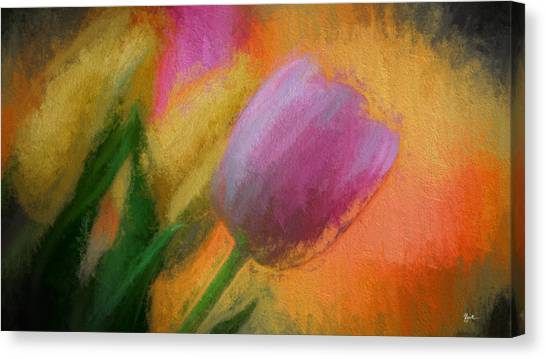 Tulip Abstraction Canvas Print