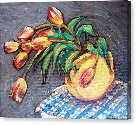 Tulip Fiesta Canvas Print by Sheila Tajima
