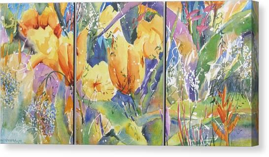 Tulip Triptych Canvas Print
