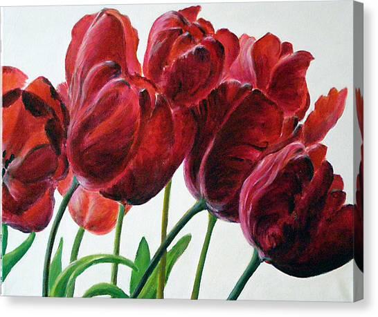 Tulipe Canvas Print by Deborah Dallinga