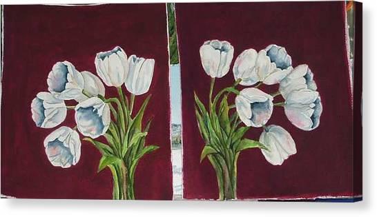 Tulips 11 And 12 Canvas Print by Diane Ziemski