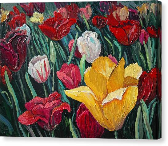 Tulips Canvas Print by Cathy Fuchs-Holman