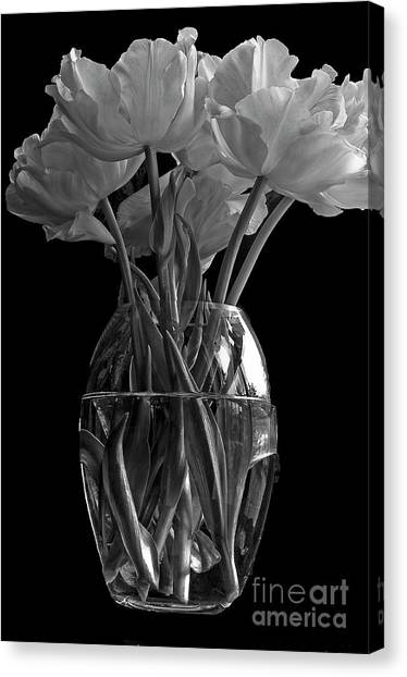 Vase Of Flowers Canvas Print - Tulips by Marion Galt