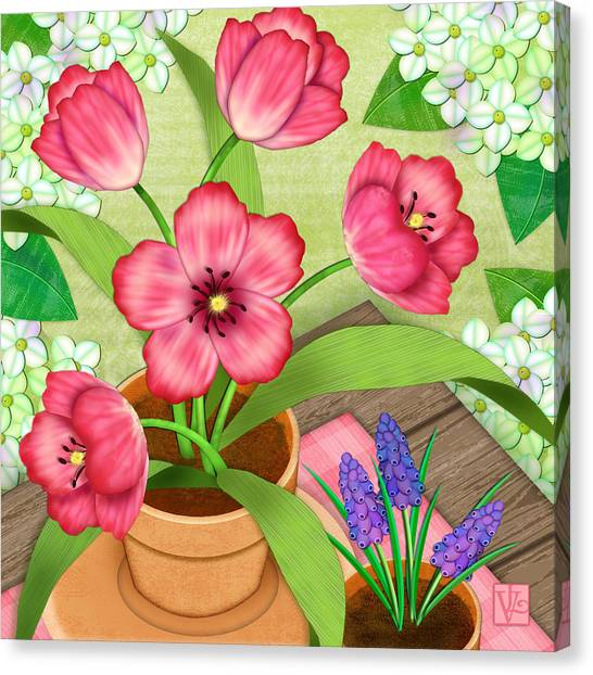 Tulips On A Spring Day Canvas Print