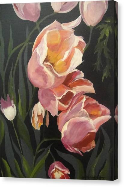 Tulips Tumbling Canvas Print