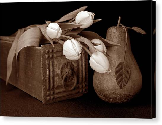 Drawers Canvas Print - Tulips With Pear I by Tom Mc Nemar