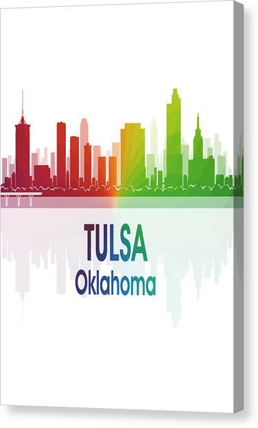 Ok Canvas Print - Tulsa Ok 1 Vertical by Angelina Tamez