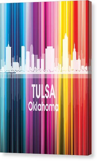 Ok Canvas Print - Tulsa Ok 2 Vertical by Angelina Tamez