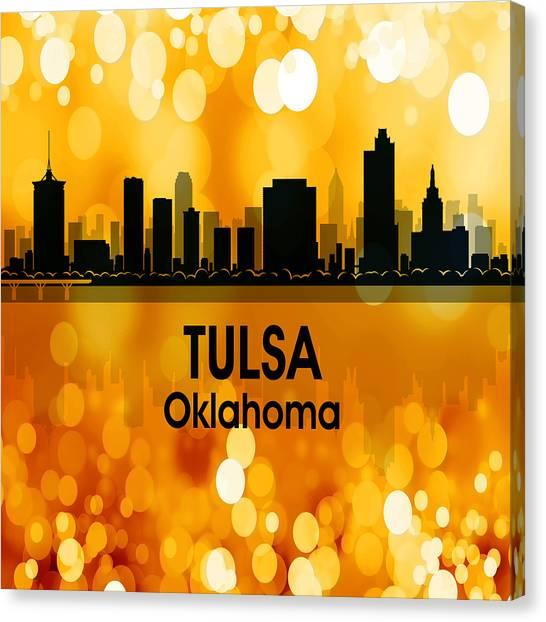 Ok Canvas Print - Tulsa Ok 3 Squared by Angelina Tamez