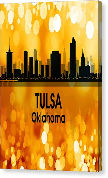 Ok Canvas Print - Tulsa Ok 3 Vertical by Angelina Tamez