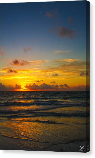 Wet Canvas Print - Tulum Magic by Alex Leaming