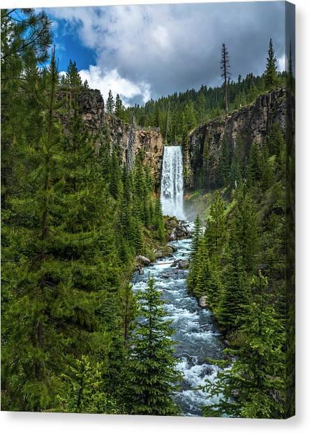 Tumalo Falls Canvas Print