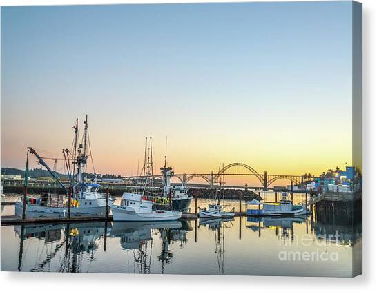 Tuna Boats Resting For The Night Canvas Print