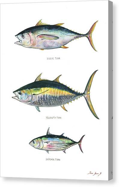 Tuna Canvas Print - Tuna Fishes by Juan Bosco
