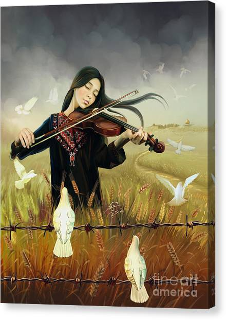 Palestinian Canvas Print - Tune Of Return by Imad Abu shtayyah
