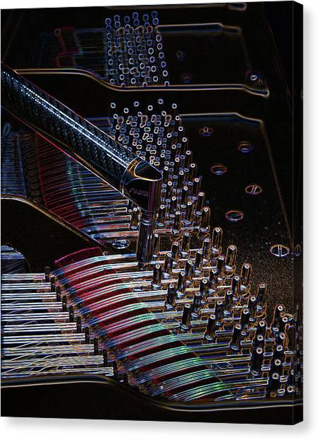 Tuning A Steinway For Jazz Canvas Print