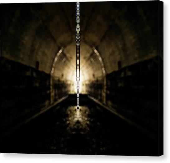 Stalactites Canvas Print - Tunnel Icicle by Pelo Blanco Photo