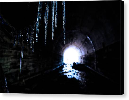 Stalactites Canvas Print - Tunnel Icicles 2 by Pelo Blanco Photo