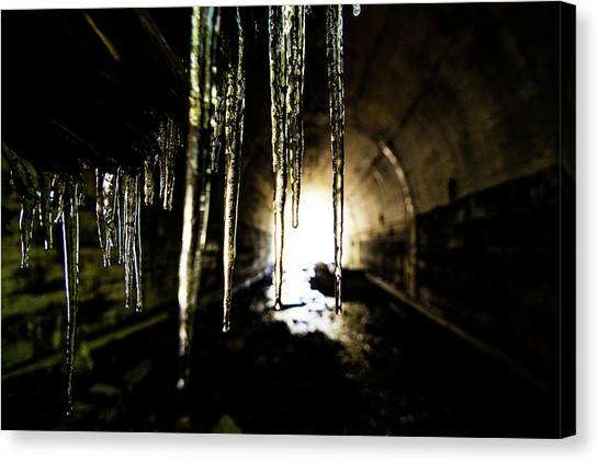 Dungeon Canvas Print - Tunnel Icicles by Pelo Blanco Photo
