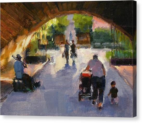 Tunnel In Central Park Canvas Print by Merle Keller