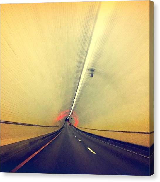 Tunnels Canvas Print - #tunnel #mobile #travel #road by Joan McCool
