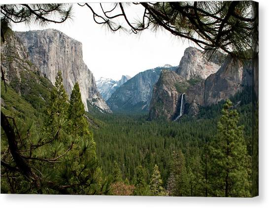 Canvas Print featuring the photograph Tunnel View Framed by Lorraine Devon Wilke