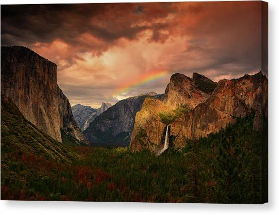 Tunnel View Rainbow Canvas Print