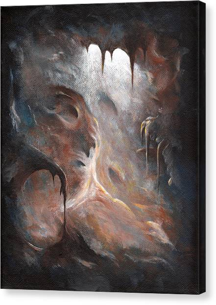 Spelunking Canvas Print - Tunnel Vision 01 - Dark Place by Joe Burgess